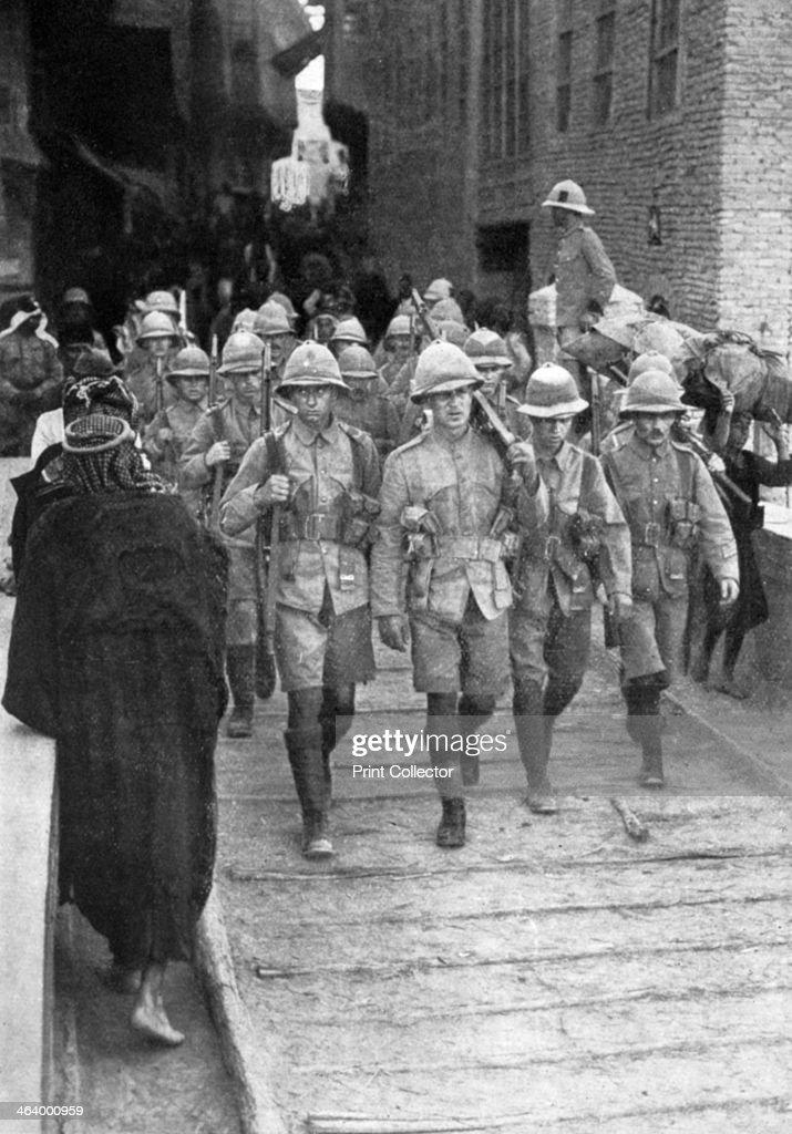 British troops on the way to Baghdad First World War The British under General Maude captured Baghdad in 1917 Then under the Ottoman Empire Baghdad...