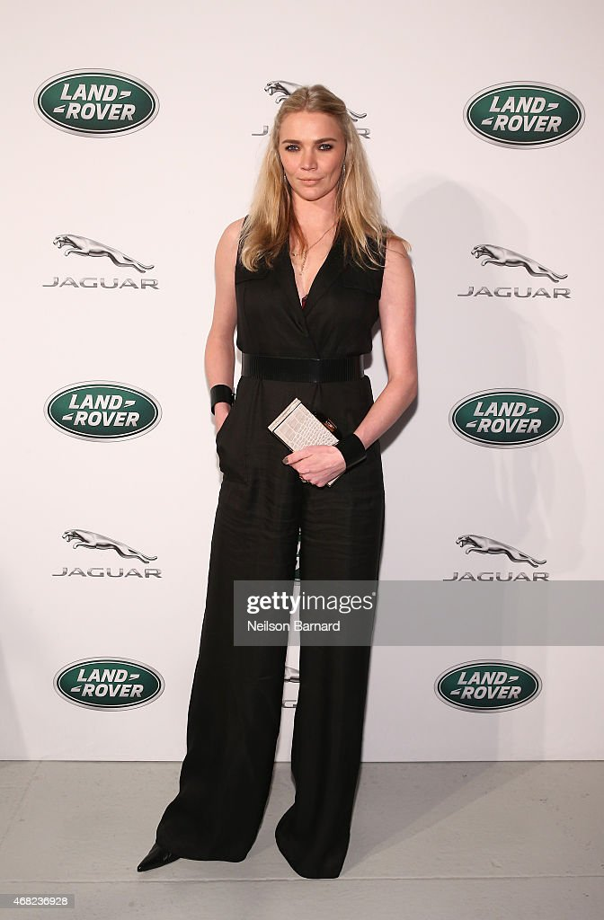 British TV presenter and former supermodel, <a gi-track='captionPersonalityLinkClicked' href=/galleries/search?phrase=Jodie+Kidd&family=editorial&specificpeople=178960 ng-click='$event.stopPropagation()'>Jodie Kidd</a> at the Jaguar Land Rover exclusive reception to unveil the 2016 Jaguar XF and Range Rover SVAutobiography in advance of the New York International Auto Show, at Center548 on March 31, 2015 in New York City.