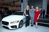 British TV presenter and former supermodel Jodie Kidd supermodel David Gandy and Emmy® nominated actress Christina Hendricks with the allnew Jaguar...