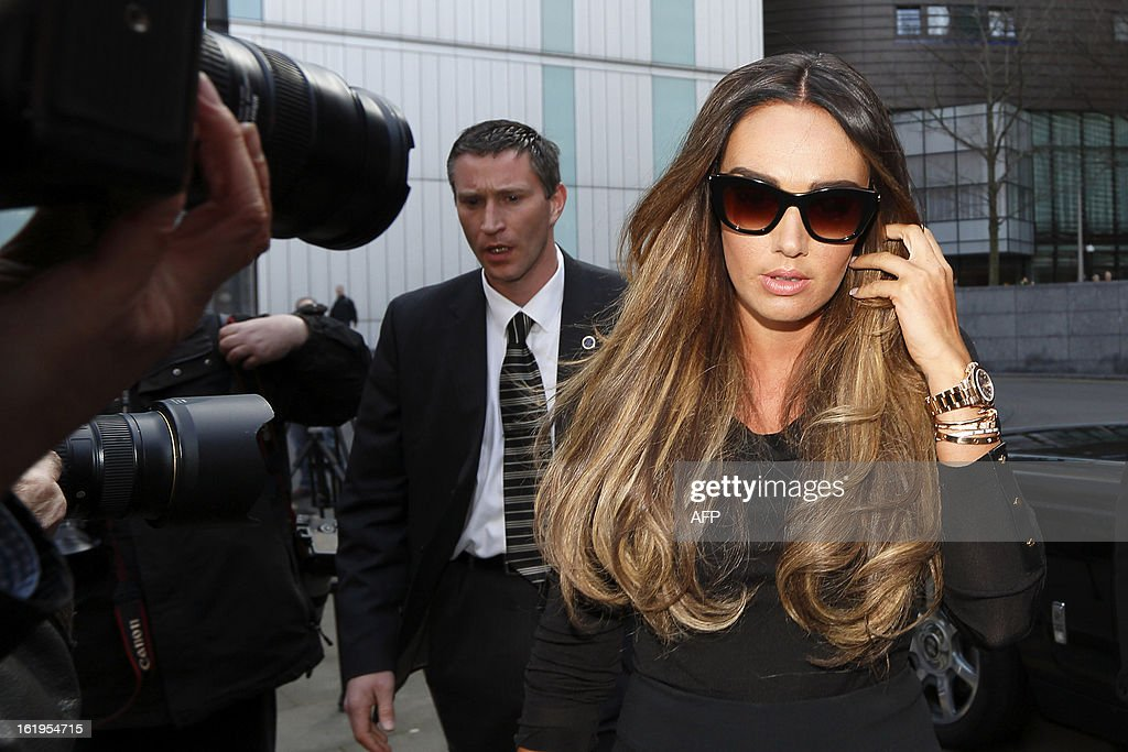 British TV presenter and socialite Tamara Ecclestone arrives at Southwark Crown Court in London, on February 18, 2013. Derek Rose and Jakir Uddin (not pictured) are accused of blackmailing Tamara Ecclestone, daughter of Bernie Ecclestone, President of Formula One Management.