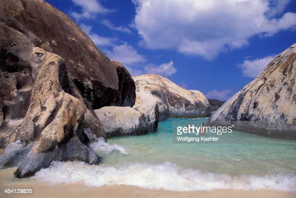 British Virgin Island Virgin Gorda The Baths Granite Rock Formations Tourists