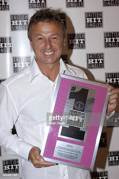 British Winners Of Eurovision Song Contest Presented With Awards By Guinness Book Of British Hit Singles Latvian Embassy London Britain 14 May 2003...