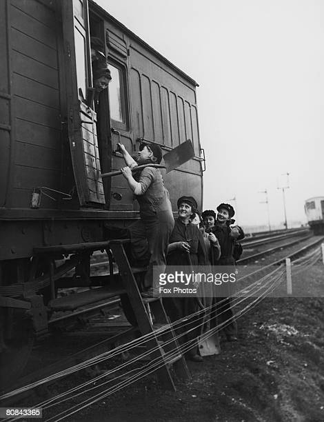 British women working on the railways World War II circa 1943