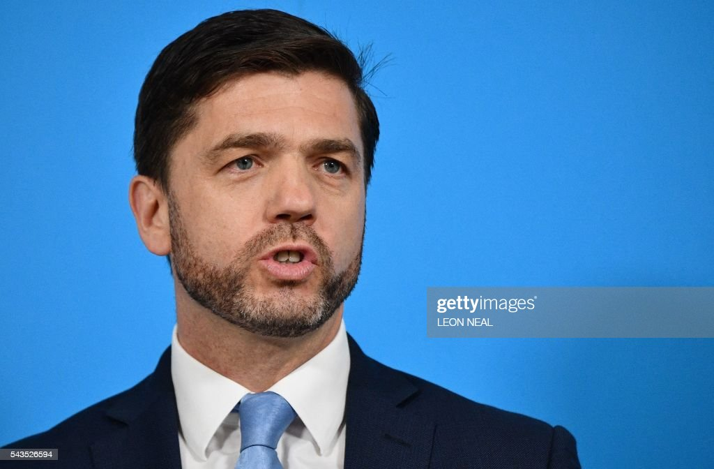 British Work and Pensions Secretary and Conservative MP, Stephen Crabb, speaks during a news conference in central London on June 29, 2016, where he announced his candidacy for the leadership of the Conservative Party. British Prime Minister David Cameron's successor will be announced on September 9 after nominations are submitted by June 30 at the latest, the Conservative Party said. Britain has been pitched into uncertainty by the result of the June 23 referendum, with Cameron announcing his resignation, the economy facing a string of shocks and Scotland making a fresh threat to break away. / AFP / LEON