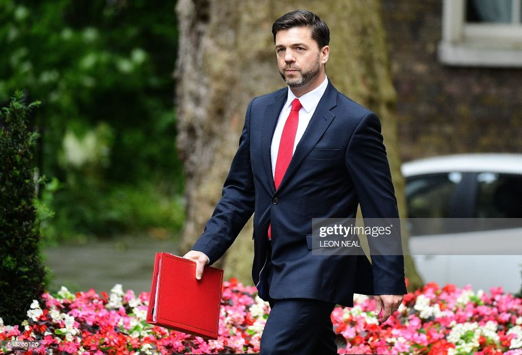 British Work and Pensions Secretary Stephen Crabb arrives to attend a cabinet meeting at 10 Downing Street in central London on June 27, 2016. European stock markets mostly slid Monday as British finance minister George Osborne attempted to calm jitters after last week's shock Brexit referendum. Britain's surprise referendum decision to leave the European Union wiped $2.1 trillion off market valuations on Friday and sent the pound collapsing to a 31-year low against the dollar. / AFP / LEON