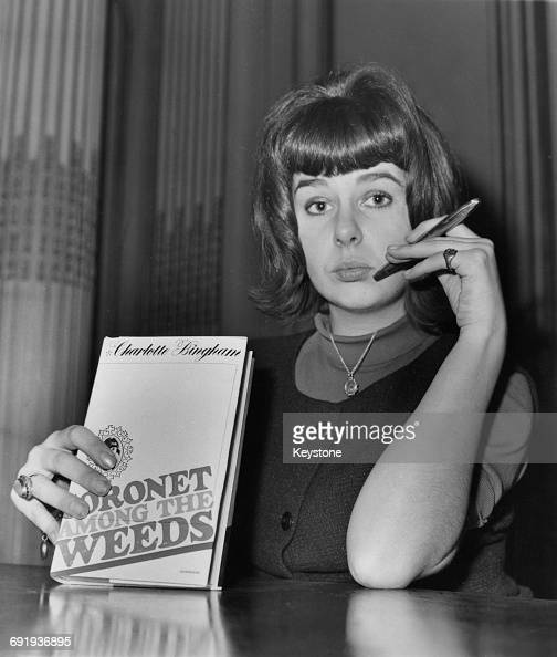 British writer Charlotte Bingham with her bestselling autobiography 'Coronet Among The Weeds' 1963