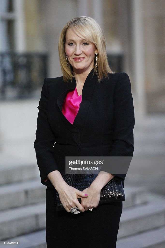 British writer J.K - Rowling awarded with the medal of Knight in the Legion of Honor in Paris, France on February 03rd, 2009.