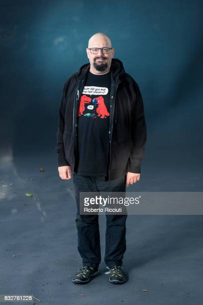 British writer of science fiction Charles David George 'Charlie' Stross attends a photocall during the annual Edinburgh International Book Festival...