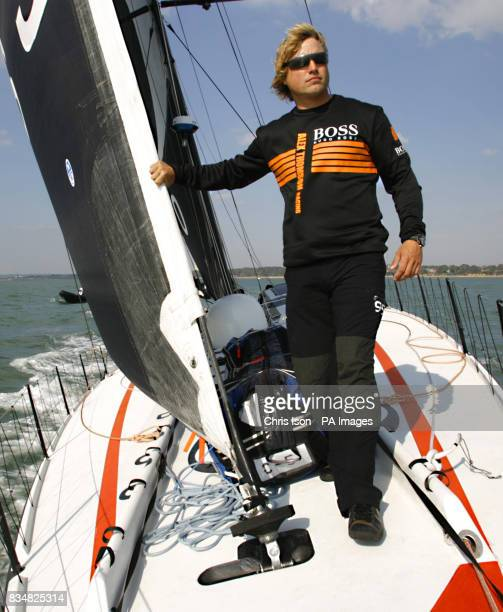 British yachtsman Alex Thomson who will compete in the gruelling Vendee Globe Race in November aboard his yacht Hugo Boss