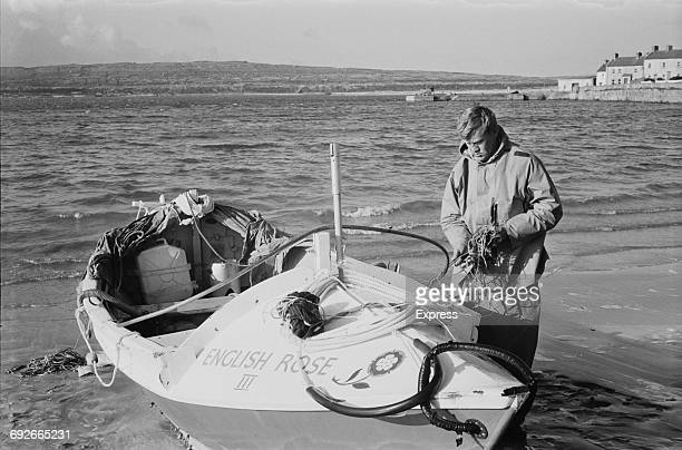 British yachtsman John Ridgway with the 'English Rose III' a 20 ft open dory in County Kerry Ireland 6th September 1966 This was the vessel in which...