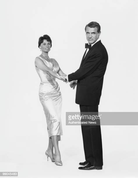 BritishAmerican actor Cary Grant with Italian actress Sophia Loren his costar in 'Houseboat' 1958