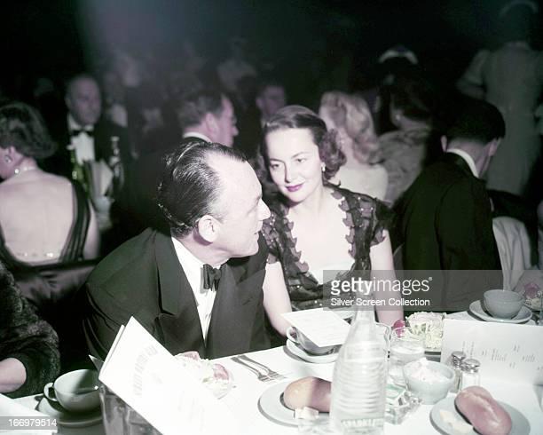 BritishAmerican actress Olivia de Havilland at a formal dinner circa 1945