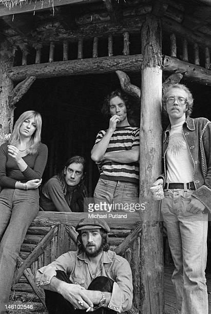 BritishAmerican rock band Fleetwood Mac in a break from a recording session September 1973 Left to right singer Christine McVie drummer Mick...