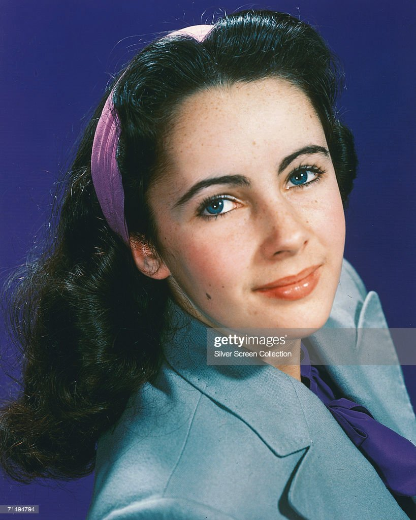 British-born actress <a gi-track='captionPersonalityLinkClicked' href=/galleries/search?phrase=Elizabeth+Taylor&family=editorial&specificpeople=69995 ng-click='$event.stopPropagation()'>Elizabeth Taylor</a>, circa 1945.