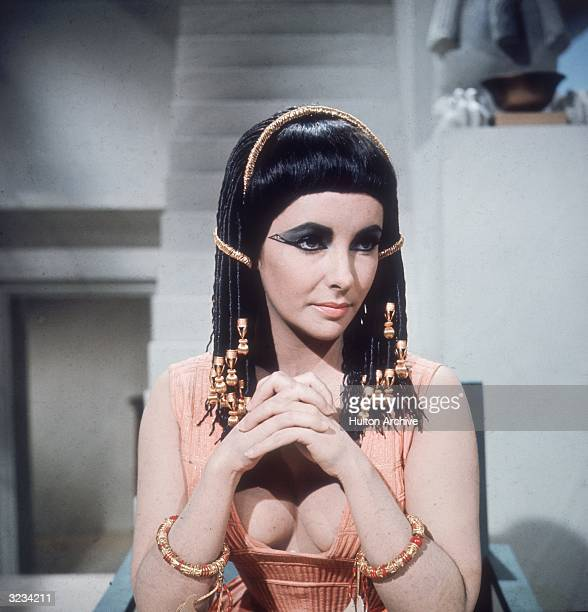 Britishborn actress Elizabeth Taylor presents a majestic front as the Egyptian queen in 20th Century Fox's 'Cleopatra' directed by Joseph L Mankiewicz