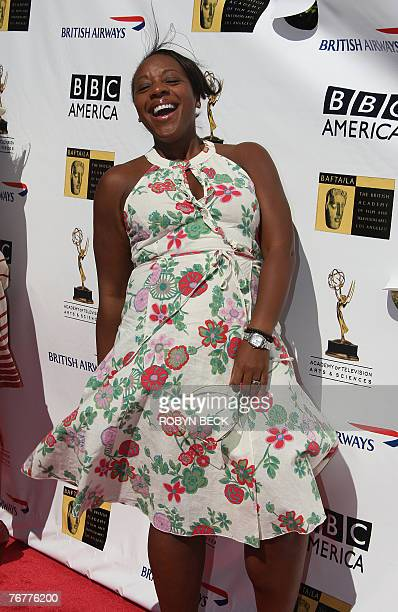 Britishborn actress Marianne JeanBaptiste for a preEmmy Awards tea party hosted by the British Academy of Film Television Arts/Los Angeles and the...