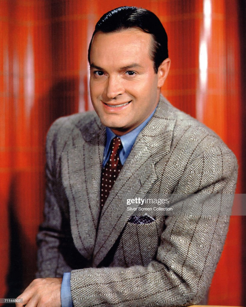 British-born American comedian and actor <a gi-track='captionPersonalityLinkClicked' href=/galleries/search?phrase=Bob+Hope+-+Comedian&family=editorial&specificpeople=70010 ng-click='$event.stopPropagation()'>Bob Hope</a> (1903 - 2003), circa 1942.