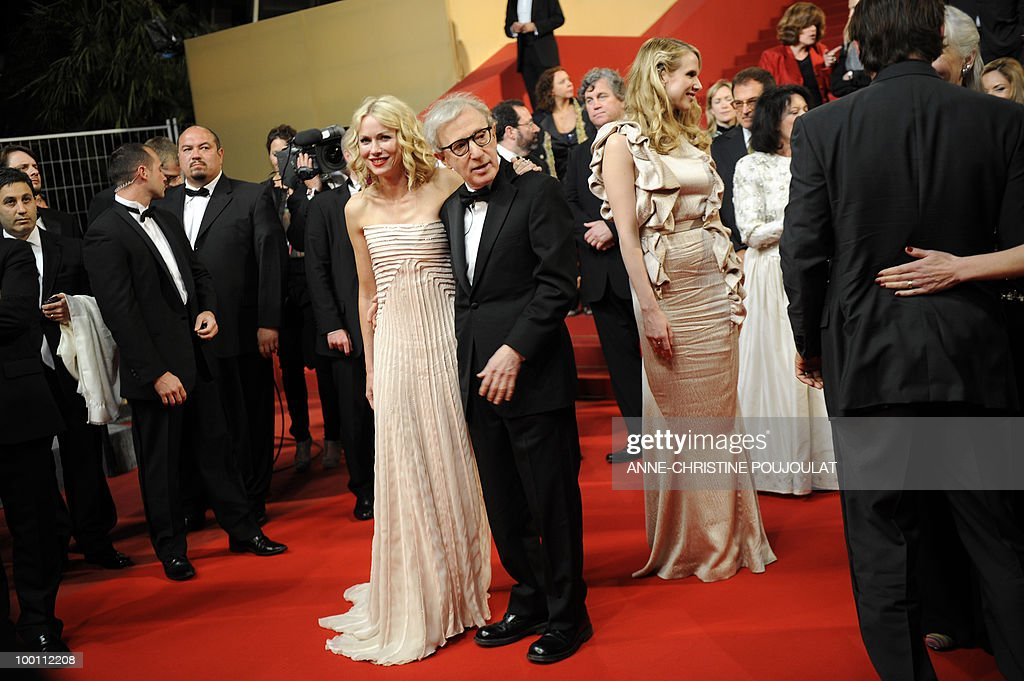 British-born Australian actress Naomi Watts and US director Woody Allen leave after the screening of 'You Will Meet a Tall Dark Stranger' presented out of competition at the 63rd Cannes Film Festival on May 15, 2010 in Cannes.