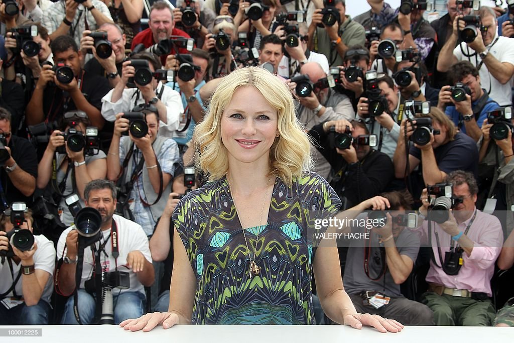 British-born Australian actress Naomi Watts poses during the photocall of 'You Will Meet a Tall Dark Stranger' presented out of competition at the 63rd Cannes Film Festival on May 15, 2010 in Cannes.