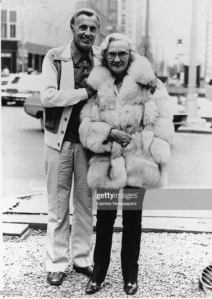 British-born parents of the pop and disco band The Bee Gees, Hugh (1916 - 1992) and Barbara Gibb, display their finery as they pose for a photograph on a city street, August 29, 1979.