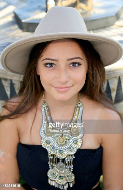 Britney Saal of New York wearing Urban Outfitters attends the 2015 Coachella Valley Music and Arts Festival Weekend 1 at The Empire Polo Club on...