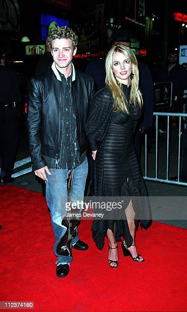 Britney Spears and Justin Timberlake during Crossroads Release Party at Planet Hollywod New York City at Planet Hollywod in New York NY United States