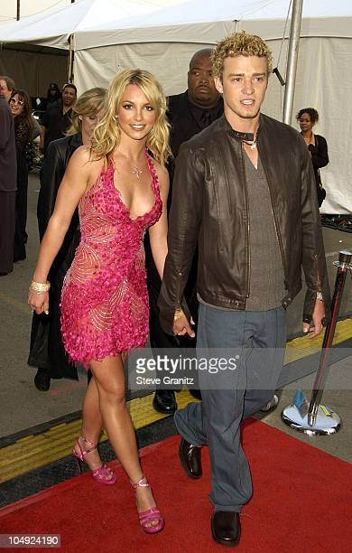 Britney Spears and Justin Timberlake during The 29th Annual American Music Awards Arrivals at The Shrine Auditorium in Los Angeles California United...