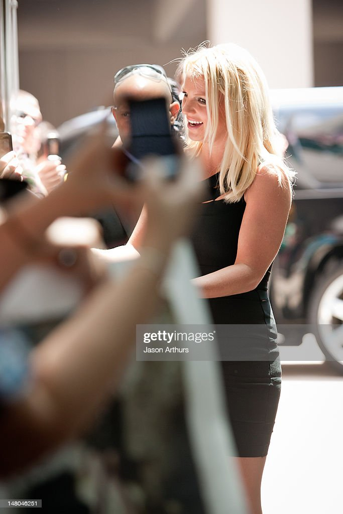 <a gi-track='captionPersonalityLinkClicked' href=/galleries/search?phrase=Britney+Spears&family=editorial&specificpeople=156415 ng-click='$event.stopPropagation()'>Britney Spears</a> arrives at 'The X Factor' Season 2 auditions at the Greensboro Coliseum on July 8, 2012 in Greensboro, North Carolina.