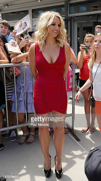 Britney Spears attends 'The X Factor' Season 2 auditions at the Dunkin Donuts Center on June 27 2012 in Providence Rhode Island