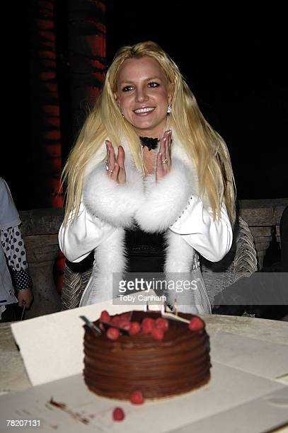 Britney Spears celebrates her birthday inside The ScandinavianStyle Mansion December 1 2007 in Bel Air California