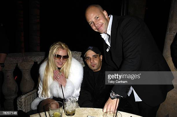 Britney Spears celebrates her birthday with Sam lufti and designer Ole Lynggaard inside The ScandinavianStyle Mansion December 1 2007 in Bel Air...