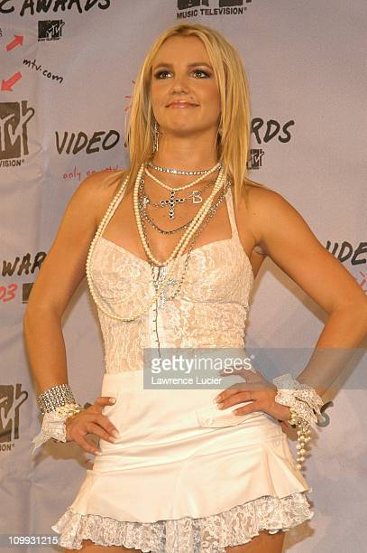 Britney Spears during 2003 MTV Video Music Awards Pressroom at Radio City Music Hall in New York City New York United States