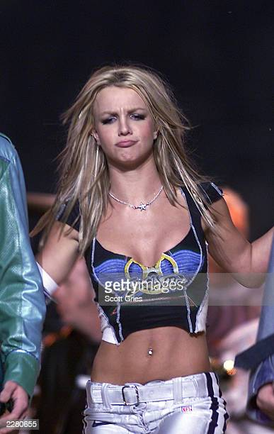 Britney Spears on stage during MTV's Superbowl halftime show at Raymond James Stadium in Tampa Fla 1/28/01 Photo by Scott Gries/ImageDirect