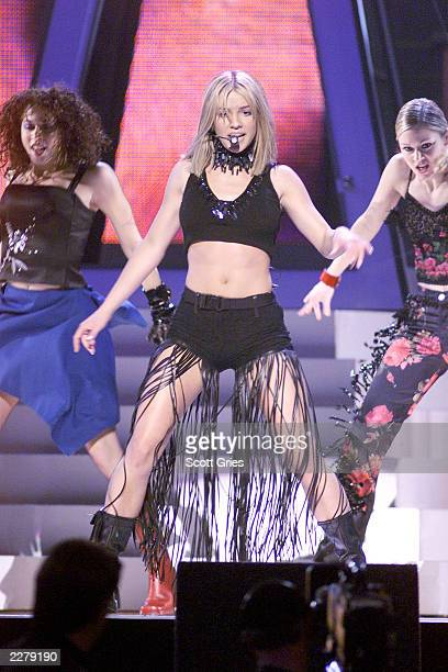 Britney Spears performing on the 1999 Billboard Music Awards at the MGM Grand Garden Arena in Las Vegas 12/8/1999 Photo Scott Gries/Getty Images