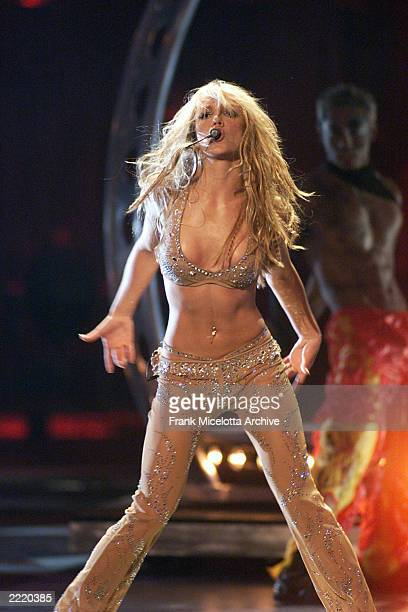 Britney Spears performing on the 2000 MTV Video Music Awards at Radio City Music Hall in new York City 9/7/00