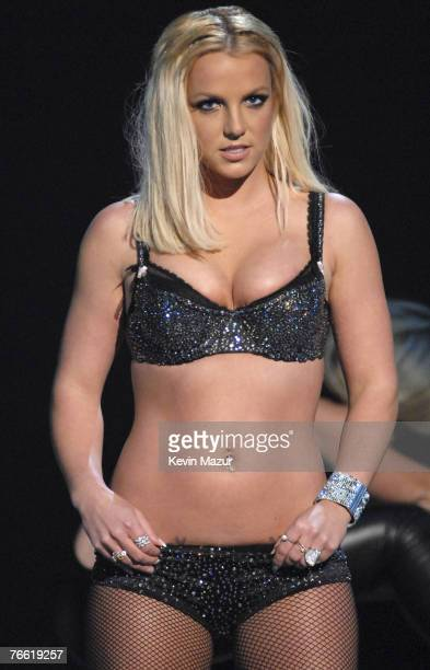 Britney Spears performs at the 2007 MTV Video Music Awards at The Pearl Concert Theater on September 9 2007 in Las Vegas Nevada