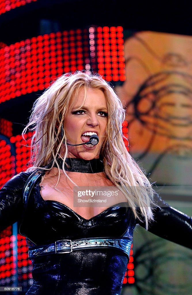 <a gi-track='captionPersonalityLinkClicked' href=/galleries/search?phrase=Britney+Spears&family=editorial&specificpeople=156415 ng-click='$event.stopPropagation()'>Britney Spears</a> performs at the Odyssey Arena June 1, 2004 in Belfast, Northern Ireland.