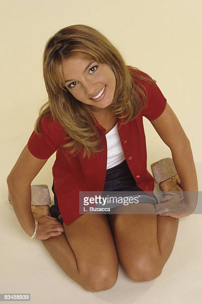 Britney Spears poses during a portrait session on October 2 1998 in Los Angeles California