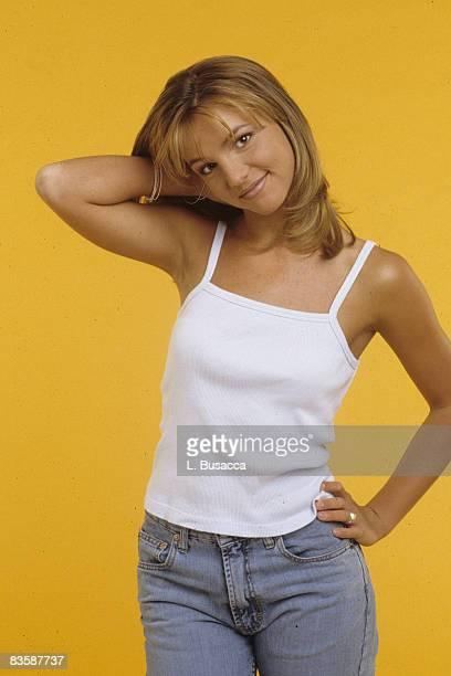 Britney Spears poses in a Studio in 1998 in New York City