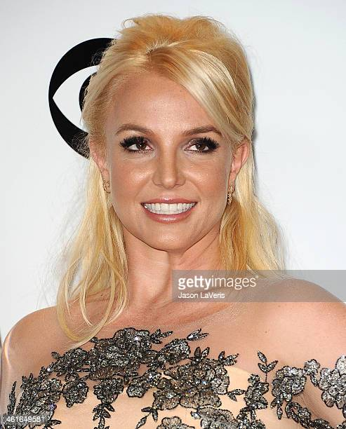 Britney Spears poses in the press room at the 40th annual People's Choice Awards at Nokia Theatre LA Live on January 8 2014 in Los Angeles California
