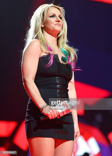 Britney Spears speaks onstage during the 2012 iHeartRadio Music Festival at MGM Grand Garden Arena on September 21 2012 in Las Vegas Nevada