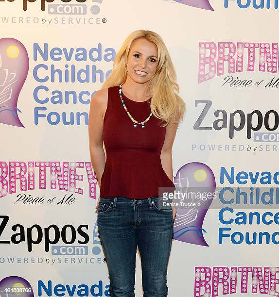 Britney Spears visits the Zapposcom campus in Downtown Las Vegas to celebrate her partnership with the Nevada Childhood Cancer Foundation and Zappos...