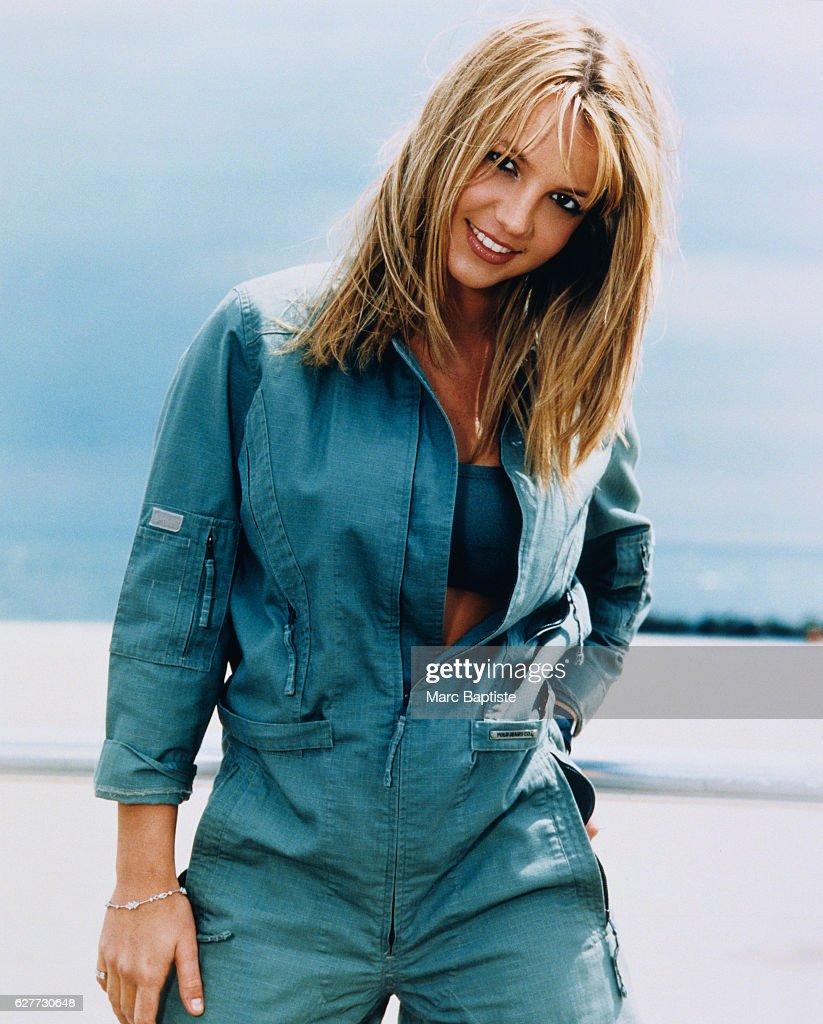 Britney Spearsin Blue Jumpsuit