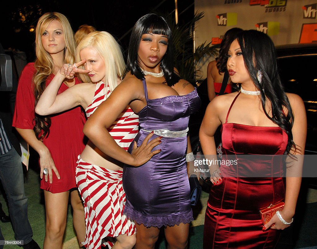 Britney 'Tiger' Morano, Jesselynn 'Wire' Desmond, Tiffany 'New York' Patterson, and Abigail 'Red Oyster' Kintanar from 'Flavor of Love'