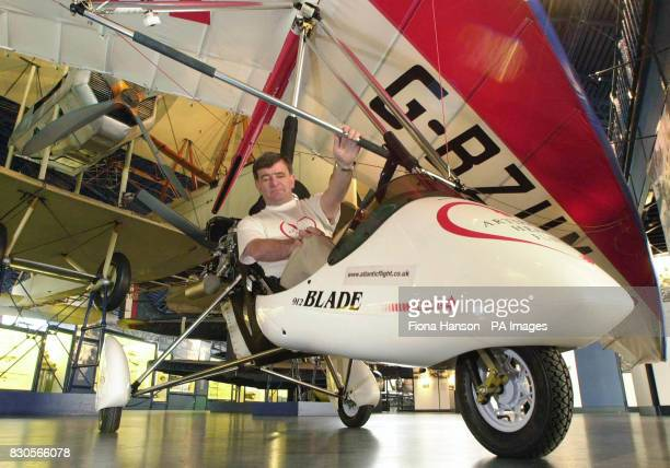 Briton Brian Milton the first man to fly a microlight around the world at the Science Museum in London in his opencockpit microlight He is to attempt...