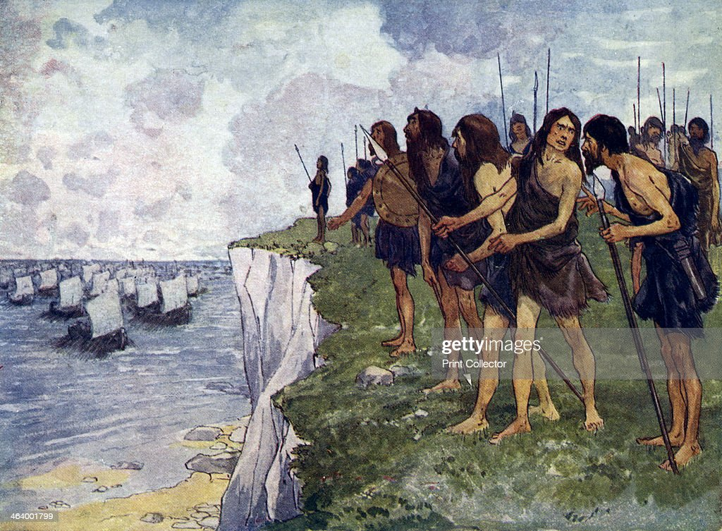 Britons awaiting the imminent arrival of viking ships c16th century