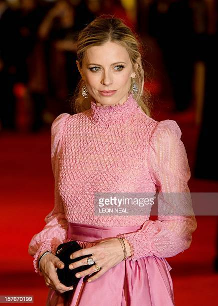 Britsh model Laura Bailey poses for photographers on the red carpet ahead of the world premiere of 'Les Miserables' in central London on December 5...