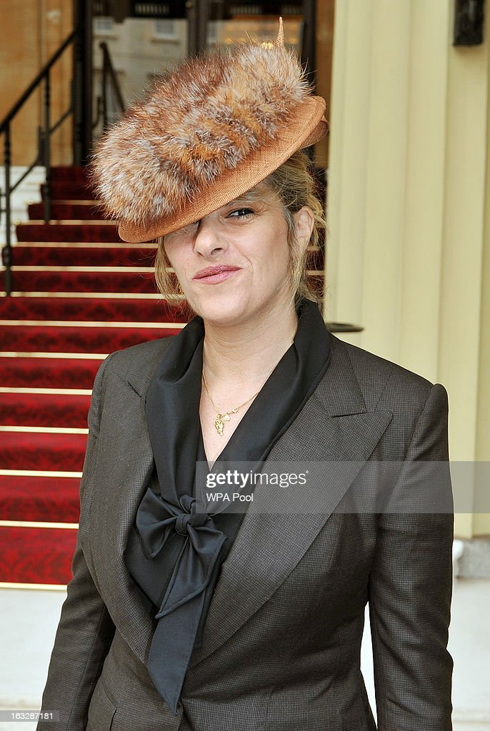 Britsish artist Tracey Emin arrives to receive The Most Execellent Order of the British Empire at Buckingham Palace to receive The Most Excellent Order of the British Empire at the Investiture Ceremony which will be conducted by the Princess Royal at Buckingham Palace on March 07, 2013 in London, England.