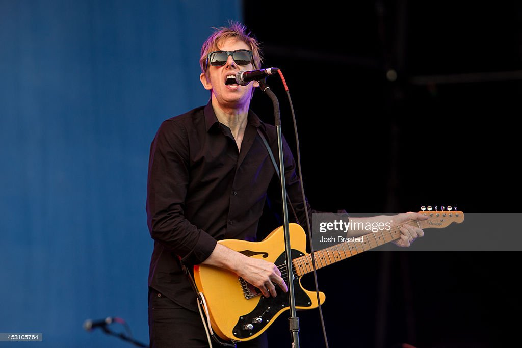 <a gi-track='captionPersonalityLinkClicked' href=/galleries/search?phrase=Britt+Daniel&family=editorial&specificpeople=2032275 ng-click='$event.stopPropagation()'>Britt Daniel</a> of Spoon performs during the 2014 Lollapalooza at Grant Park on August 2, 2014 in Chicago, Illinois.