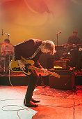 Britt Daniel of Spoon performs on stage at Shepherds Bush Empire on November 7 2014 in London United Kingdom